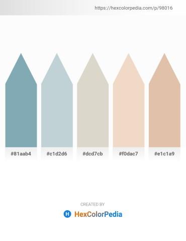 Palette image download - Cadet Blue – Light Steel Blue – Light Gray – Beige – Tan