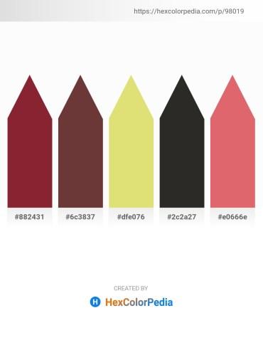 Palette image download - Brown – Brown – Burlywood – Black – Pale Violet Red