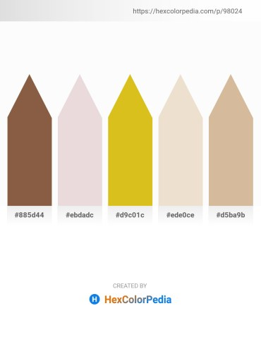 Palette image download - Sienna – Thistle – Goldenrod – Beige – Tan