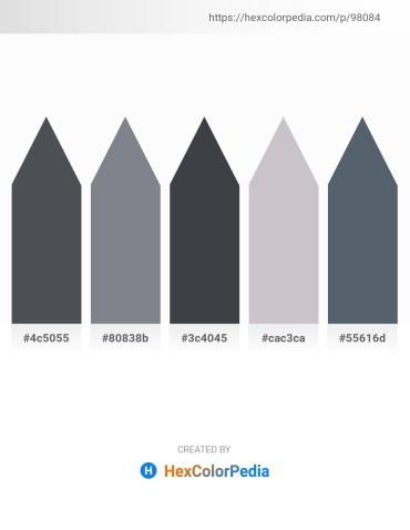 Palette image download - Dark Slate Gray – Slate Gray – Dark Slate Gray – Silver – Slate Gray