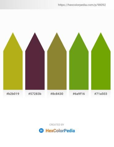 Palette image download - Goldenrod – Gray – Olive Drab – Olive Drab – Olive