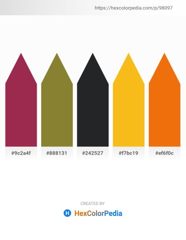 Palette image download - Brown – Olive Drab – Dark Slate Gray – Orange – Dark Orange