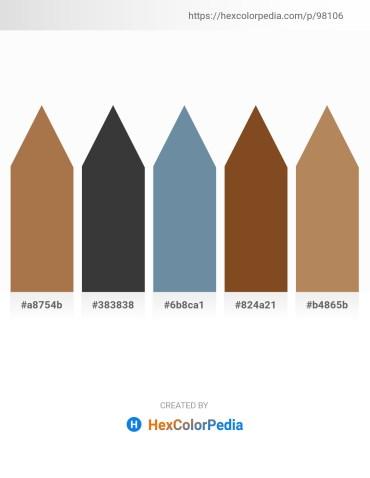 Palette image download - Sienna – Dim Gray – Light Slate Gray – Sienna – Yellow Green
