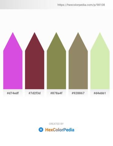 Palette image download - Medium Orchid – Brown – Dark Olive Green – Gray – Pale Goldenrod