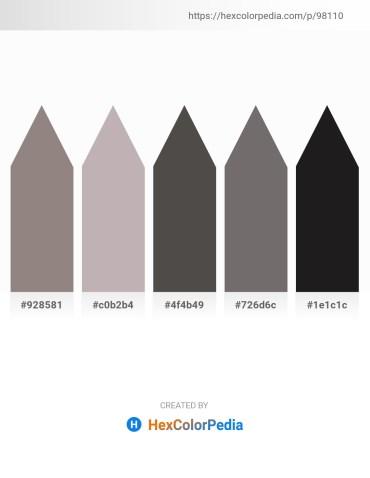 Palette image download - Gray – Silver – Dim Gray – Dim Gray – Black