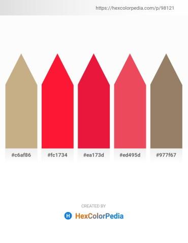 Palette image download - Tan – Red – Crimson – Tomato – Gray