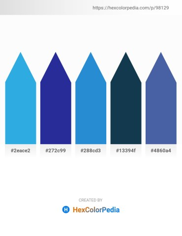 Palette image download - Light Sea Green – Midnight Blue – Royal Blue – Midnight Blue – Steel Blue