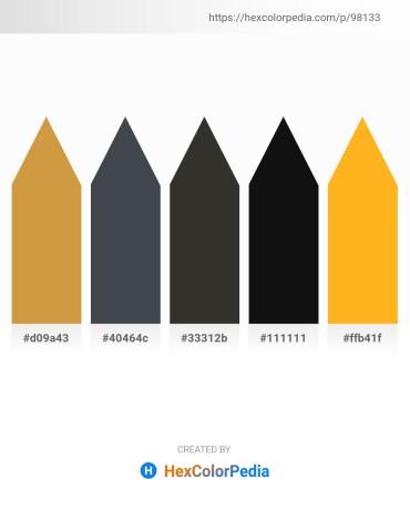 Palette image download - Peru – Dark Slate Gray – Black – Black – Orange