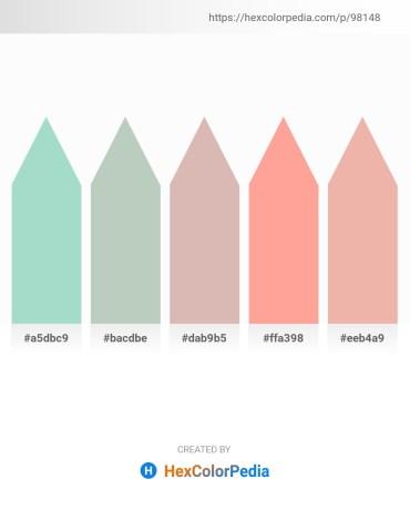 Palette image download - Powder Blue – Dark Sea Green – Tan – Light Salmon – Beige