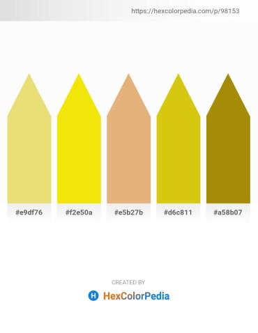 Palette image download - Khaki – Gold – Dark Salmon – Goldenrod – Dark Goldenrod