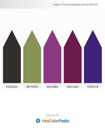 Palette image download - Black – Dark Khaki – Saddle Brown – Saddle Brown – Midnight Blue