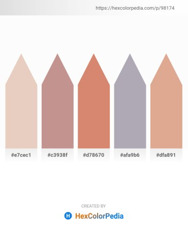 Palette image download - Beige – Rosy Brown – Pale Violet Red – Light Slate Gray – Burlywood