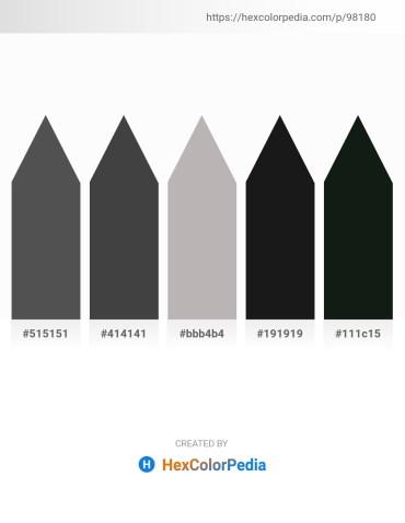 Palette image download - Dim Gray – Dim Gray – Silver – Black – Dark Slate Gray