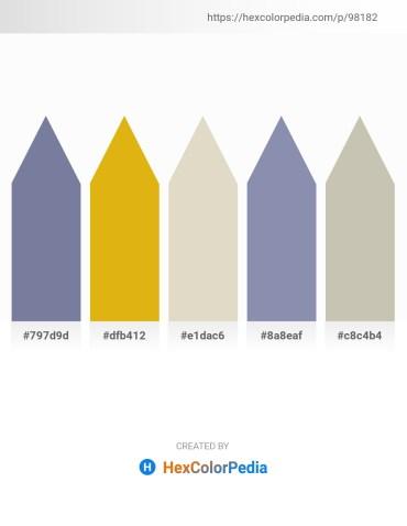 Palette image download - Light Slate Gray – Goldenrod – Tan – Light Slate Gray – Silver