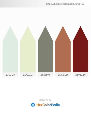 Palette image download - Light Steel Blue – Beige – Gray – Indian Red – Saddle Brown