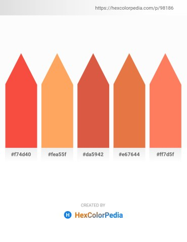 Palette image download - Tomato – Light Salmon – Indian Red – Chocolate – Coral