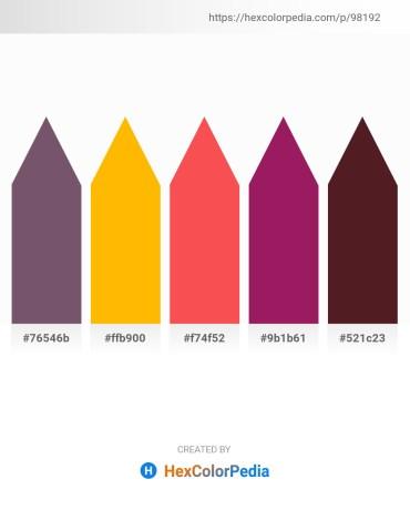 Palette image download - Dim Gray – Orange – Tomato – Medium Violet Red – Brown