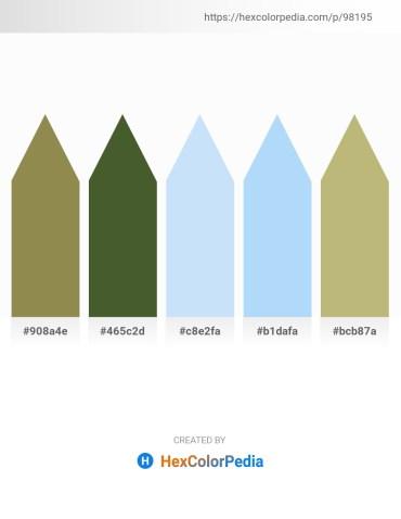 Palette image download - Dark Khaki – Dark Olive Green – Lavender – Light Sky Blue – Dark Khaki