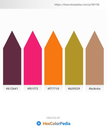 Palette image download - Brown – Deep Pink – Dark Orange – Peru – Medium Sea Green