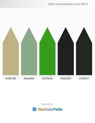 Palette image download - Dark Khaki – Dark Sea Green – Forest Green – Black – Dark Slate Gray