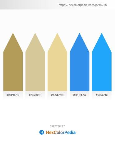 Palette image download - Dark Khaki – Tan – Pale Goldenrod – Royal Blue – Dodger Blue
