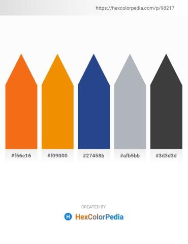 Palette image download - Dark Orange – Dark Orange – Midnight Blue – Light Slate Gray – Dim Gray