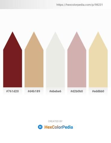 Palette image download - Brown – Tan – White Smoke – Rosy Brown – Pale Goldenrod