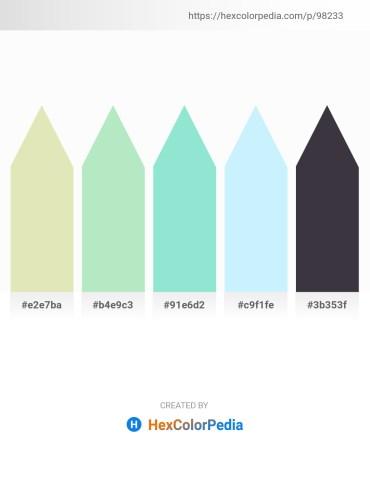 Palette image download - Beige – Powder Blue – Pale Turquoise – Light Cyan – Slate Gray