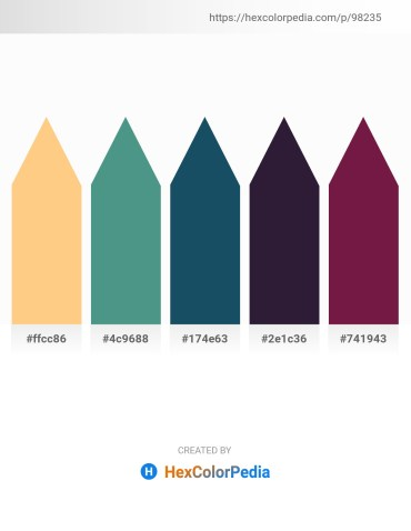 Palette image download - Light Salmon – Cadet Blue – Midnight Blue – Dim Gray – Brown