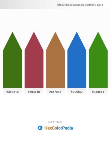 Palette image download - Forest Green – Sienna – Sienna – Royal Blue – Forest Green