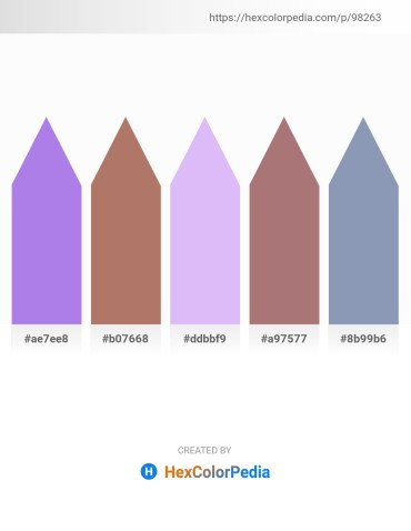 Palette image download - Medium Purple – Rosy Brown – Lavender – Rosy Brown – Light Slate Gray
