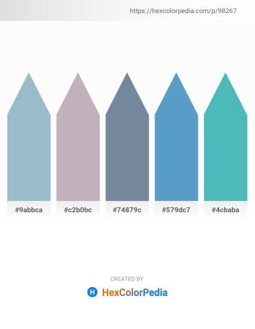 Palette image download - Light Steel Blue – Silver – Light Slate Gray – Steel Blue – Medium Aquamarine