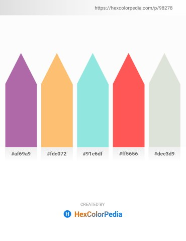 Palette image download - Rosy Brown – Light Salmon – Pale Turquoise – Tomato – Gainsboro