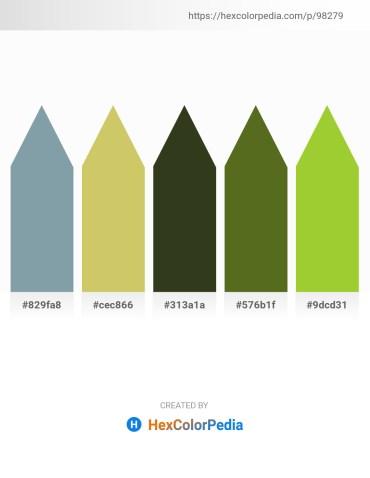 Palette image download - Light Slate Gray – Dark Khaki – Dark Olive Green – Olive Drab – Yellow Green