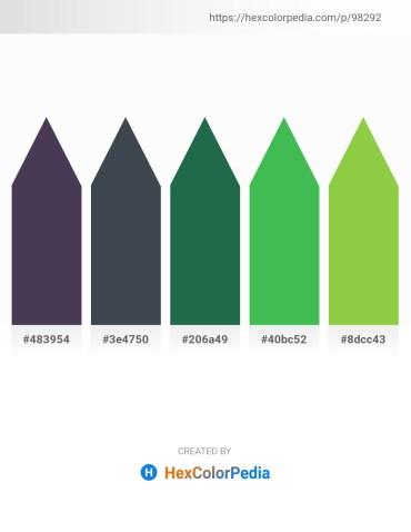 Palette image download - Dim Gray – Dark Slate Gray – Sea Green – Medium Sea Green – Yellow Green