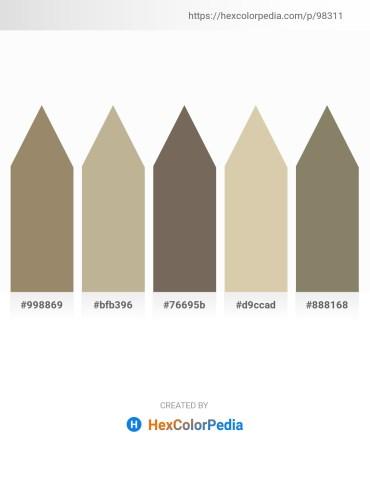 Palette image download - Dark Khaki – Yellow Green – Dim Gray – Tan – Gray