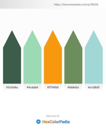 Palette image download - Dark Slate Gray – Powder Blue – Orange – Dark Sea Green – Light Steel Blue