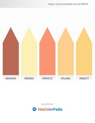 Palette image download - Indian Red – Moccasin – Salmon – Navajo White – Burlywood