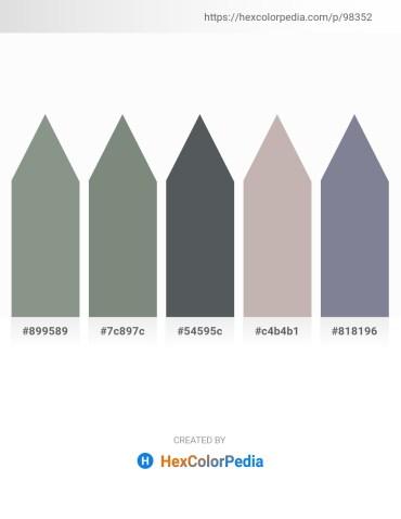 Palette image download - Dark Sea Green – Slate Gray – Dark Slate Gray – Silver – Light Slate Gray