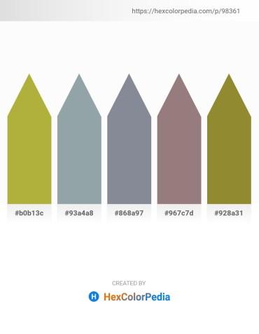 Palette image download - Yellow Green – Light Slate Gray – Light Slate Gray – Gray – Olive Drab