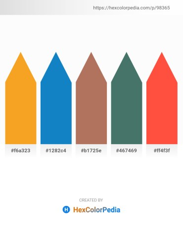Palette image download - Orange – Light Sky Blue – Indian Red – Dark Slate Gray – Tomato