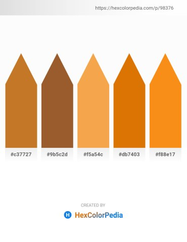 Palette image download - Chocolate – Sienna – Sandy Brown – Dark Orange – Dark Orange