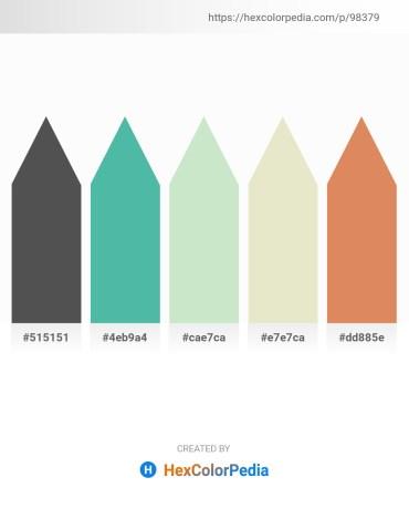 Palette image download - Dim Gray – Medium Aquamarine – Powder Blue – Beige – Dark Salmon