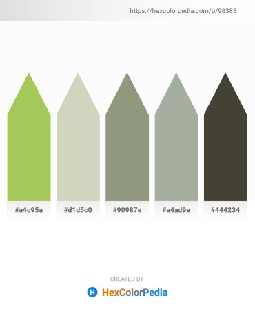 Palette image download - Yellow Green – Light Gray – Dark Sea Green – Dark Sea Green – Dark Olive Green