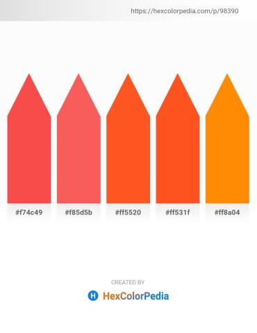 Palette image download - Tomato – Tomato – Orange Red – Orange Red – Dark Orange