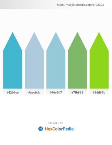 Palette image download - Medium Turquoise – Light Steel Blue – Light Steel Blue – Dark Sea Green – Yellow Green