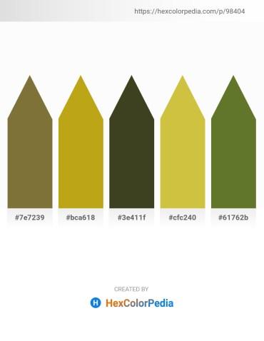 Palette image download - Dark Olive Green – Goldenrod – Dark Olive Green – Yellow Green – Dark Olive Green