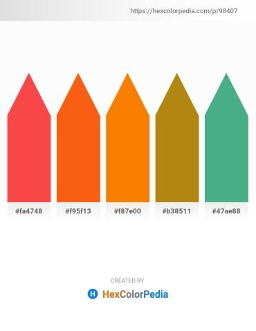 Palette image download - Tomato – Orange Red – Dark Orange – Dark Goldenrod – Medium Sea Green