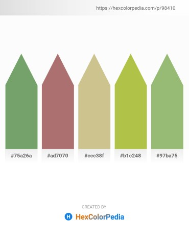Palette image download - Dark Sea Green – Rosy Brown – Tan – Yellow Green – Dark Sea Green