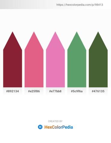 Palette image download - Brown – Pale Violet Red – Pale Violet Red – Cadet Blue – Dark Olive Green
